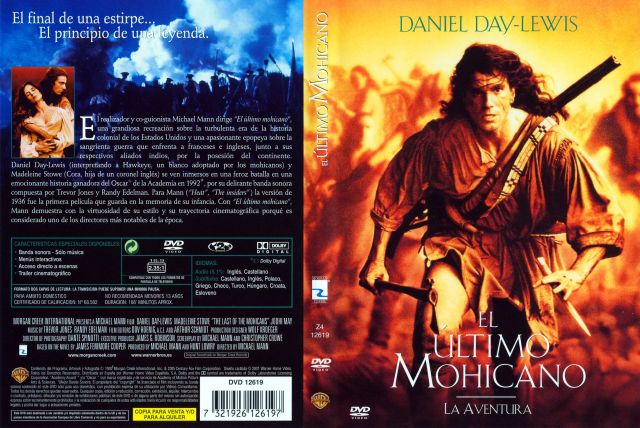 El Ultimo Mohicano 1992 Por Fundador - dvd