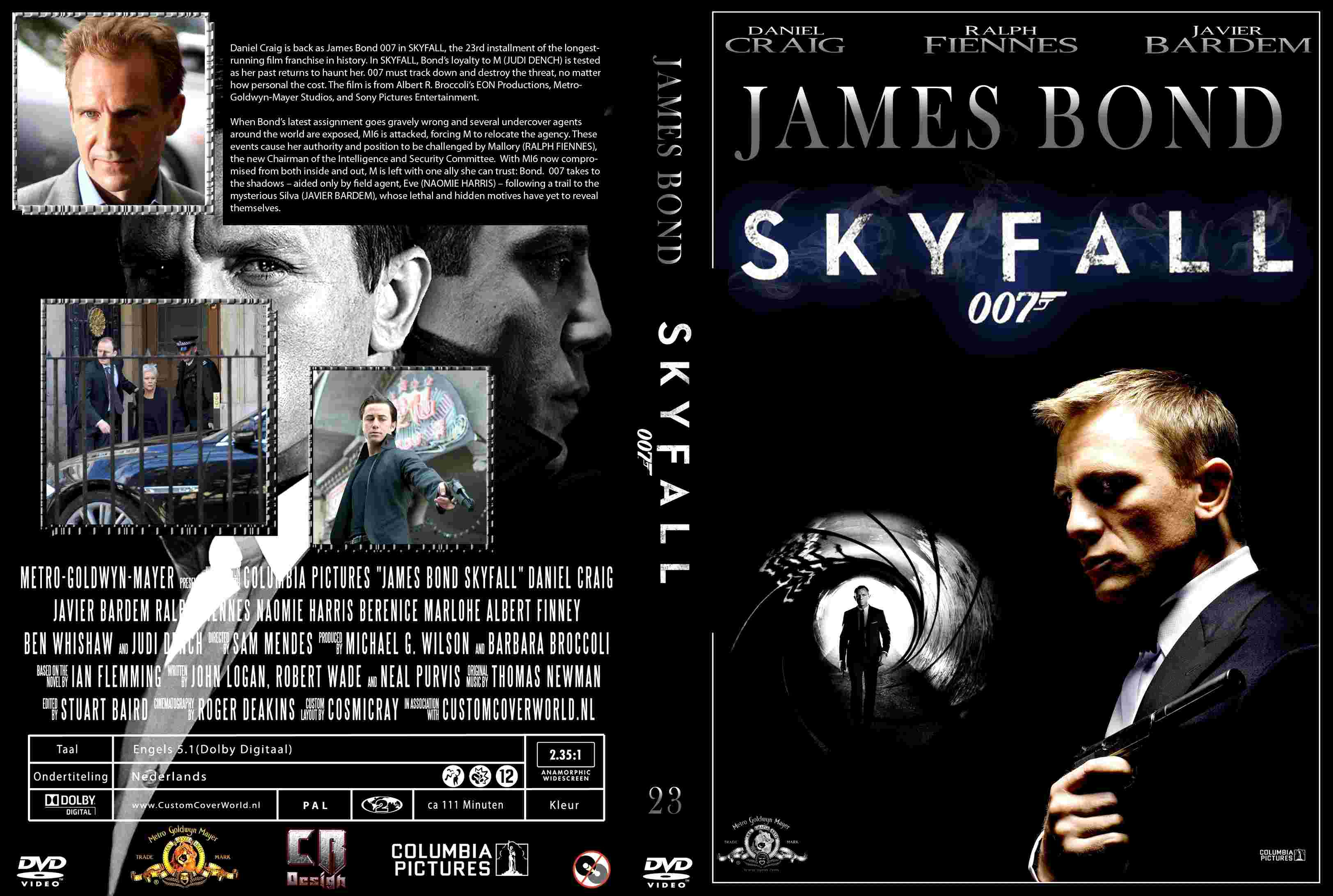 Skyfall  book 20...007 Skyfall Dvd Cover