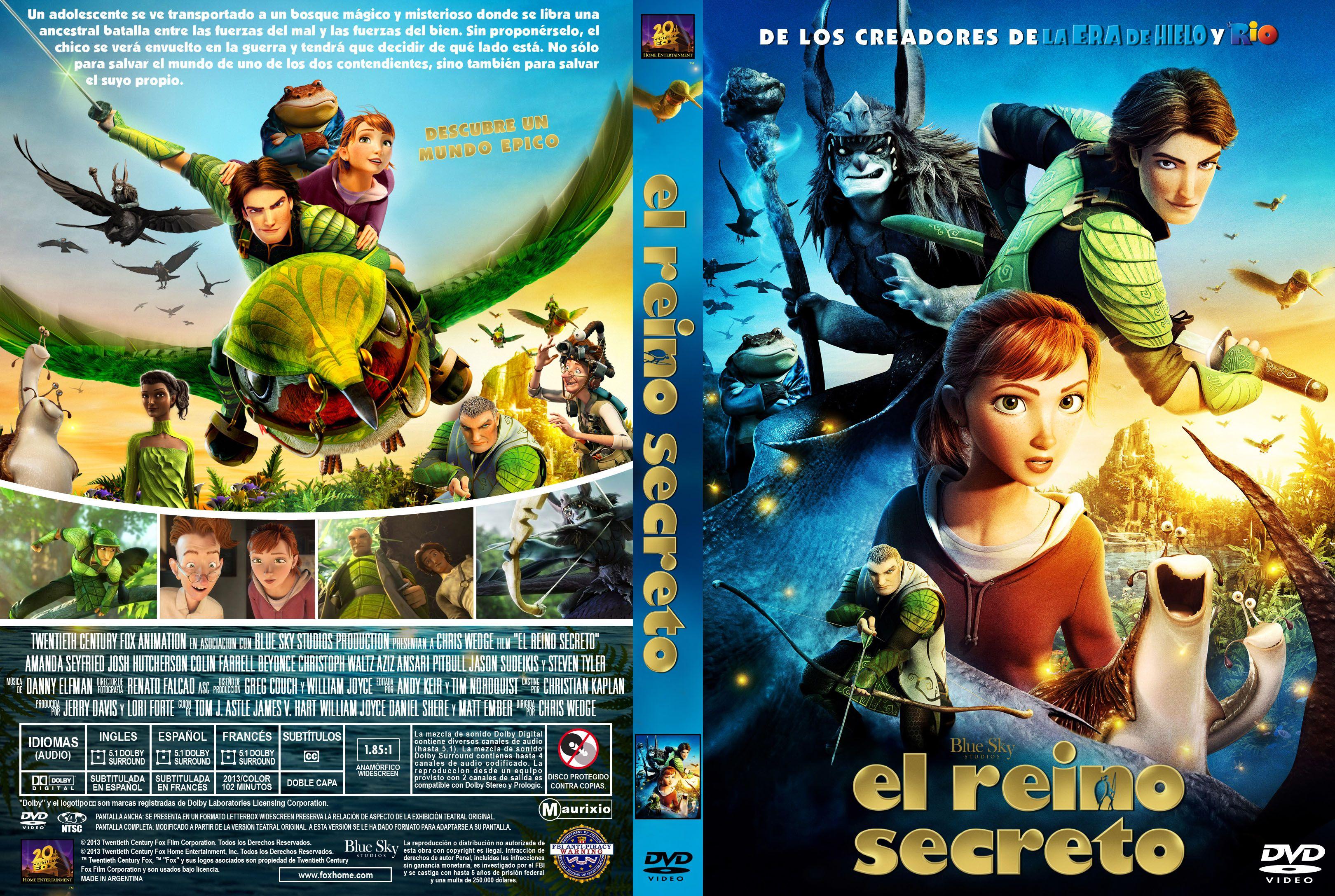 Epic Dvd Front Cover El Reino Secreto Custo...