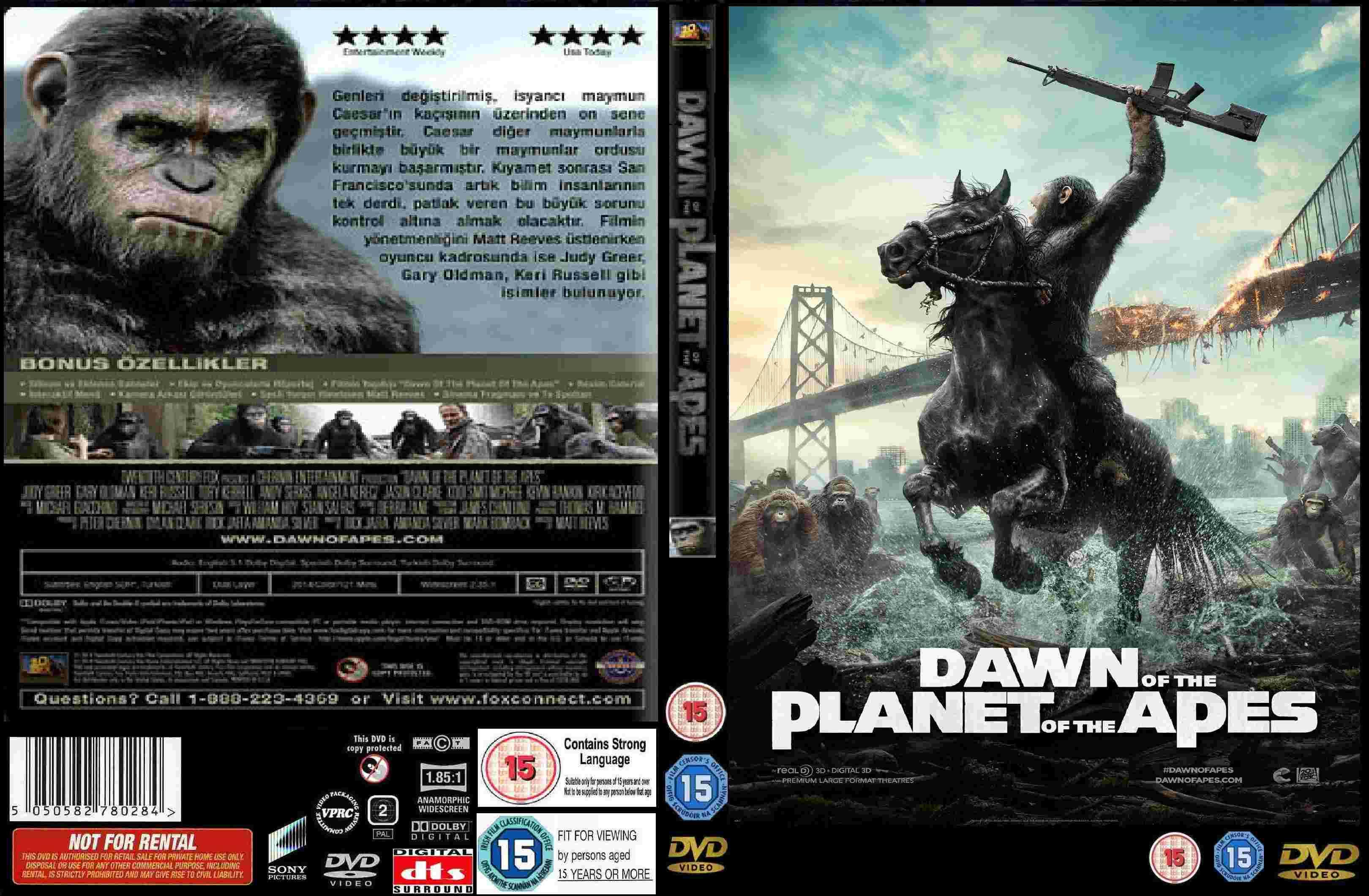 Afbeeldingen van Dawn of the Planet of Apes DVD