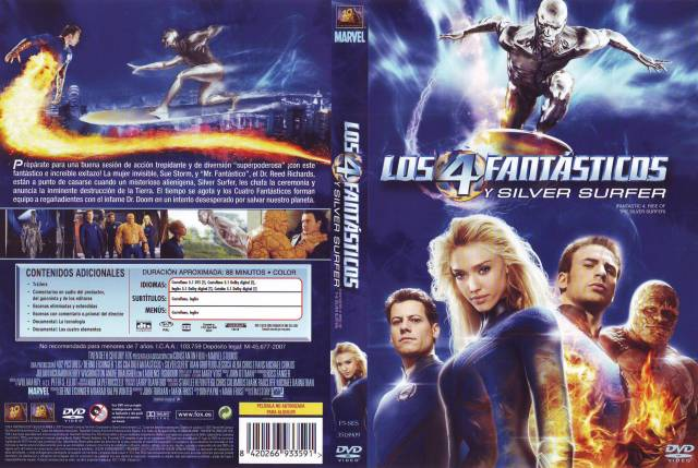 Los 4 Fantasticos Y Silver Surfer V2 Por Lankis - dvd
