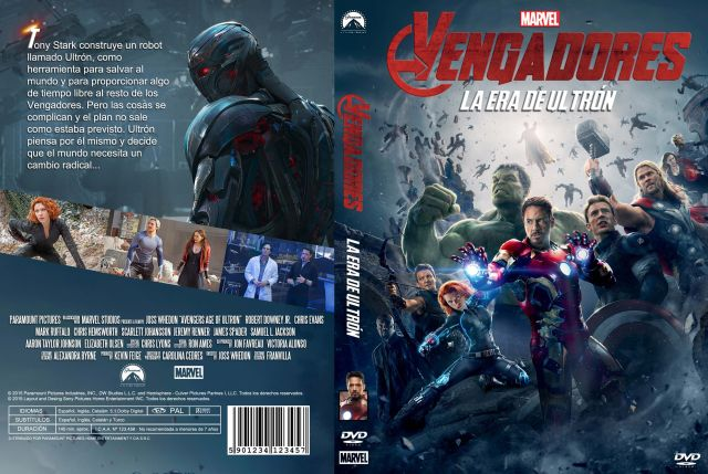 Los Vengadores 2 La Era De Ultron Custom V3 Por Franvilla - dvd