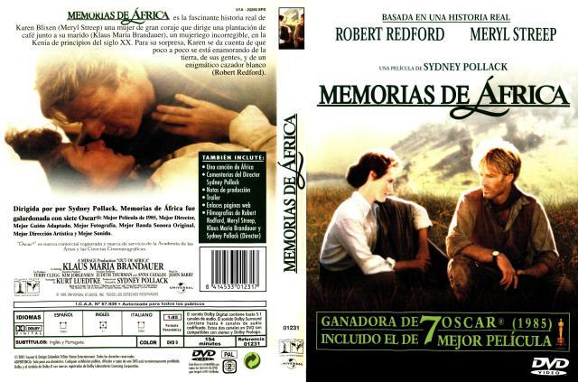 Memorias De Africa Por Frances - dvd