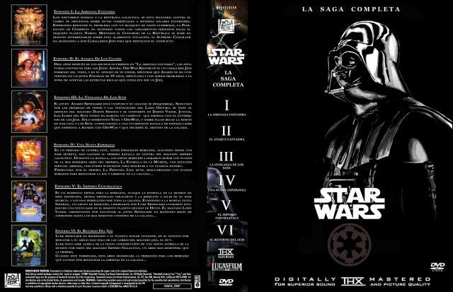 Star Wars Episodios I Ii Iii Iv V Vi Custom Por Rafa Rrf - dvd