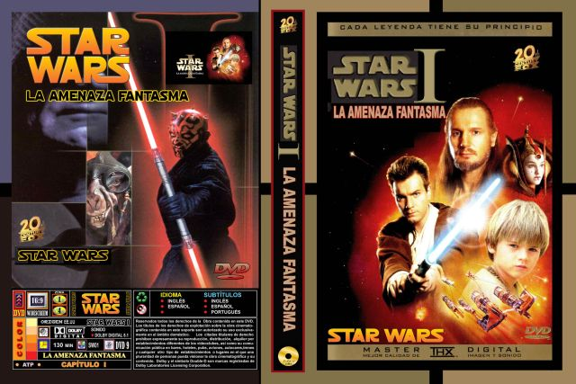 Star Wars I La Amenaza Fantasma Custom Por Rtavip - dvd