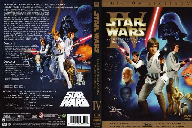 Star Wars Iv Una Nueva Esperanza Edicion Especial Por Johndoe - dvd