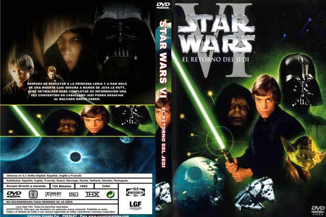 Star Wars Vi El Retorno Del Jedi Custom Por Presley2 - dvd