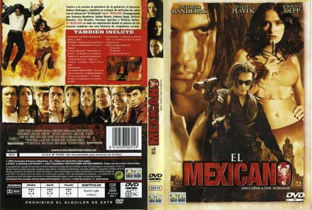 El Mexicano Once Upon A Time In Mexico Por Malevaje - dvd