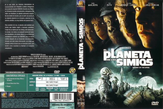 El Planeta De Los Simios 2001 Region 4 V2 Por Antonio1965 - dvd